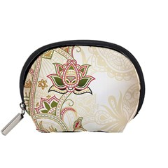 Floral Flower Star Leaf Gold Accessory Pouches (Small)
