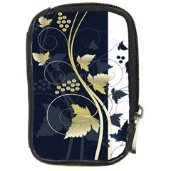Tree Leaf Flower Circle White Blue Compact Camera Cases