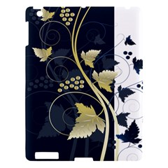 Tree Leaf Flower Circle White Blue Apple iPad 3/4 Hardshell Case