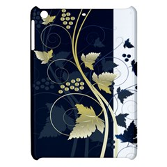 Tree Leaf Flower Circle White Blue Apple iPad Mini Hardshell Case