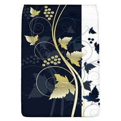 Tree Leaf Flower Circle White Blue Flap Covers (L)