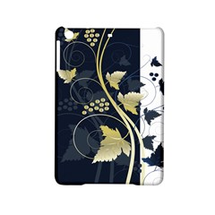 Tree Leaf Flower Circle White Blue iPad Mini 2 Hardshell Cases