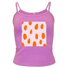 Polka Dot Orange Pink Dark Spaghetti Tank