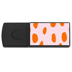 Polka Dot Orange Pink USB Flash Drive Rectangular (4 GB)