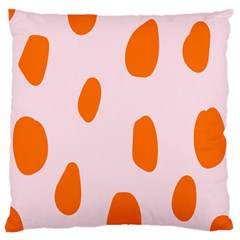 Polka Dot Orange Pink Large Cushion Case (One Side)