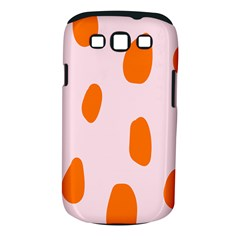 Polka Dot Orange Pink Samsung Galaxy S III Classic Hardshell Case (PC+Silicone)