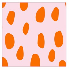 Polka Dot Orange Pink Large Satin Scarf (Square)