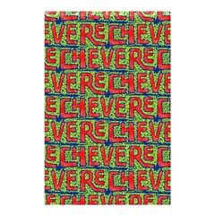 Typographic Graffiti Pattern Shower Curtain 48  x 72  (Small)