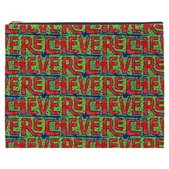 Typographic Graffiti Pattern Cosmetic Bag (XXXL)