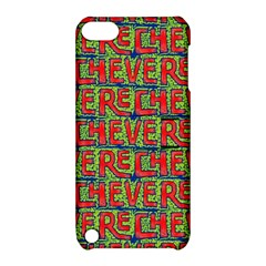 Typographic Graffiti Pattern Apple iPod Touch 5 Hardshell Case with Stand
