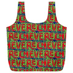 Typographic Graffiti Pattern Full Print Recycle Bags (L)