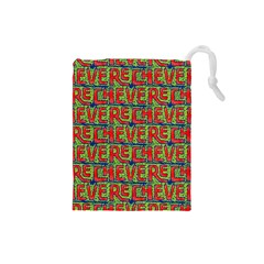 Typographic Graffiti Pattern Drawstring Pouches (Small)