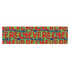 Typographic Graffiti Pattern Satin Scarf (Oblong)