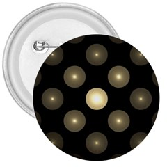 Gray Balls On Black Background 3  Buttons