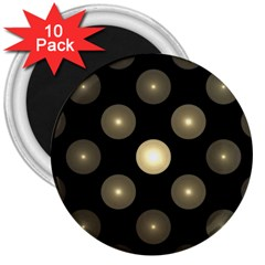 Gray Balls On Black Background 3  Magnets (10 pack)