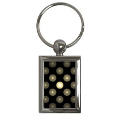 Gray Balls On Black Background Key Chains (Rectangle)