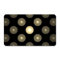 Gray Balls On Black Background Magnet (rectangular)