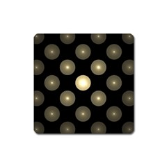 Gray Balls On Black Background Square Magnet