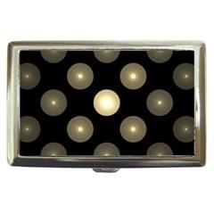 Gray Balls On Black Background Cigarette Money Cases