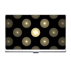 Gray Balls On Black Background Business Card Holders