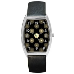 Gray Balls On Black Background Barrel Style Metal Watch