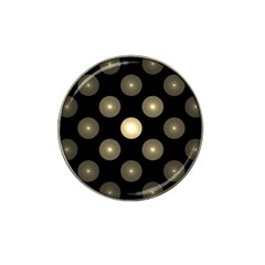 Gray Balls On Black Background Hat Clip Ball Marker (4 pack)