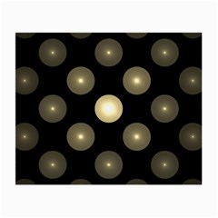 Gray Balls On Black Background Small Glasses Cloth