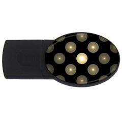 Gray Balls On Black Background Usb Flash Drive Oval (4 Gb)
