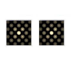 Gray Balls On Black Background Cufflinks (square)