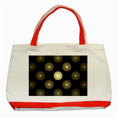 Gray Balls On Black Background Classic Tote Bag (red)