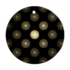Gray Balls On Black Background Round Ornament (two Sides)