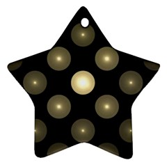 Gray Balls On Black Background Star Ornament (two Sides)
