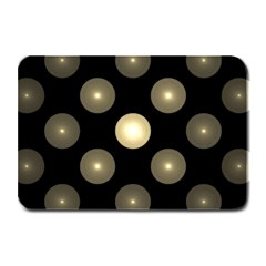 Gray Balls On Black Background Plate Mats