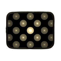 Gray Balls On Black Background Netbook Case (Small)