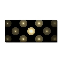 Gray Balls On Black Background Cosmetic Storage Cases