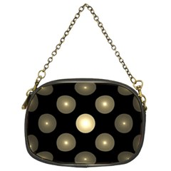 Gray Balls On Black Background Chain Purses (Two Sides)