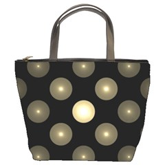 Gray Balls On Black Background Bucket Bags