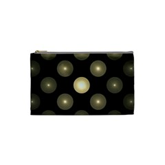 Gray Balls On Black Background Cosmetic Bag (Small)