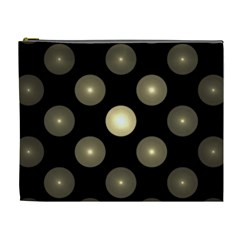 Gray Balls On Black Background Cosmetic Bag (XL)