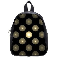 Gray Balls On Black Background School Bags (Small)