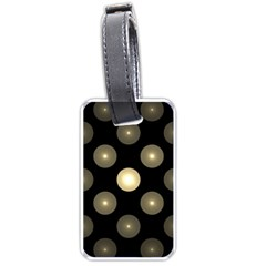Gray Balls On Black Background Luggage Tags (Two Sides)