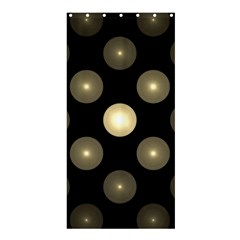 Gray Balls On Black Background Shower Curtain 36  X 72  (stall)