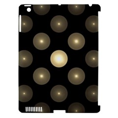 Gray Balls On Black Background Apple iPad 3/4 Hardshell Case (Compatible with Smart Cover)