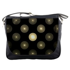 Gray Balls On Black Background Messenger Bags
