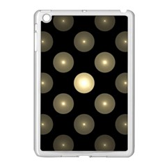 Gray Balls On Black Background Apple iPad Mini Case (White)