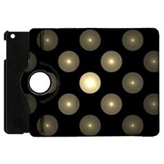 Gray Balls On Black Background Apple Ipad Mini Flip 360 Case