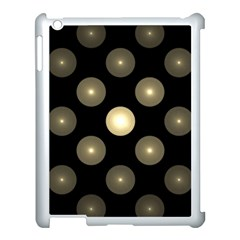 Gray Balls On Black Background Apple iPad 3/4 Case (White)