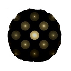 Gray Balls On Black Background Standard 15  Premium Round Cushions