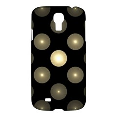 Gray Balls On Black Background Samsung Galaxy S4 I9500/I9505 Hardshell Case