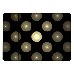 Gray Balls On Black Background Samsung Galaxy Tab 10 1  P7500 Flip Case